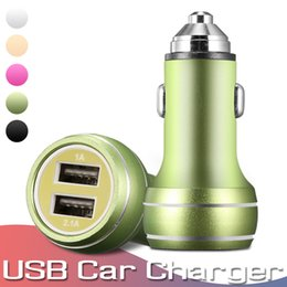 $enCountryForm.capitalKeyWord Australia - Mini USB Car Charger Adapter 2A Car USB Charger Mobile Phone Dual USB Car-charger Auto Charge 2 Port For iPhone Samsung Huawei