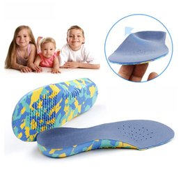 Insole Shoes Wholesales Australia - 3D Arch Support Insole Kids And Children Orthotic Insoles Flat Feet For X-Legs Child Orthopedic Shoes Foot Care Breathable Pads