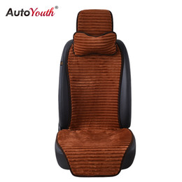 headrest cushions for car 2019 - AUTOYOUTH Winter Nano Velvet Car Seat Cover With Headrest Universal Car Seat Cushion Protector Auto Accessories For kia
