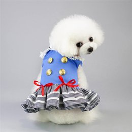 $enCountryForm.capitalKeyWord Australia - pet dog accessories Pet Dog Clothes for Small Dogs Summer Dog Dress Wedding Skirts Lovely Cat Dresses Pet Apparel pets supplies drop ship