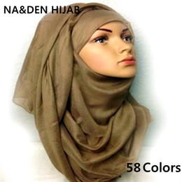 Cotton Viscose Scarves Australia - 2019 Hot sale large plain solid hijab fashion wraps viscose cotton shawls soft muslim head Scarf Hijab wrap sarong women scarves