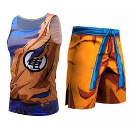 $enCountryForm.capitalKeyWord Australia - Dragon Ball Costume Mens Compression Tee-shirt Sleeveless Son Goku Vegeta Bodybuilding Tank Tops Shorts Fitness Leggings SH190628