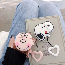 mix box accessories Canada - Snoopy Airpods 1 2 Pro Cases Earphone Accessories Protector Wireless Charger Box 2 Styles Silicone Bluetooth
