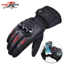 Racing glove motoR online shopping - Free Ship Motorcycle Gloves Racing Waterproof Windproof Winter Warm Leather Cycling Bicycle Cold Guantes Luvas Motor Glove