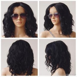 Discount best burgundy hair color - Best quality Short Curly wigs Synthetic Swiss Lace Hair Wig Short curly Africa American synthetic lace front Wig for bla