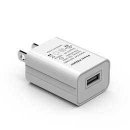 5v 1a battery usb charger UK - 5V 1A USB Charger UL Certification American FCC Certified Mobile Phone Direct Chargers for US USB Charging Battery Chargers 2 Colors-2
