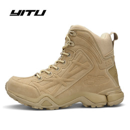 Army combAt boots online shopping - Army Boots Boots Men Tactical Army Tactical Desert Combat Safety Shoe Winter Autumn Leather Snow