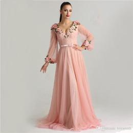 $enCountryForm.capitalKeyWord Canada - New Princess Sexy Fashion Lantern sleeve Peach Pink Glitter Pearls Flower A-line Evening Dresses Fashion Design Style