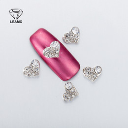 $enCountryForm.capitalKeyWord Australia - 10Pcs bag 3D Nail Art Decorations Metall Love shape Metal Rhinestones Nails Charms Diamonds For Manicure Decor