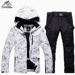 mountain waterproof jacket NZ - Saenshing professional winter ski suit men women waterproof breathable ski jacket+snowboard pant thick warm Mountain skiing suit