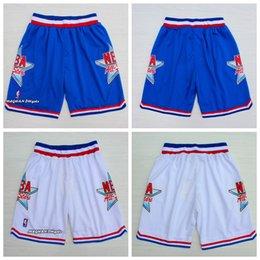 45 pants online shopping - 2018 Mens All star Laker Basketball Short Basketball Short Michael Pant JD All star Trousers Team White Blue