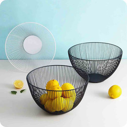 Wholesale Metal Fruit Vegetable Storage Bowls Kitchen Egg Baskets Holder Nordic Minimalism d2
