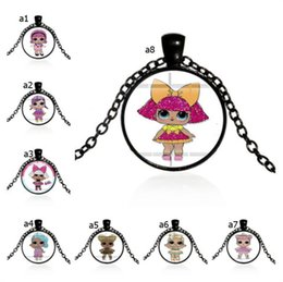 $enCountryForm.capitalKeyWord Australia - Surprise Girls Cartoon Glass Necklace 25mm Time Gem Jewelry Necklaces Cute Characters Sweater Chains Children Charms Pendant Decor A41005