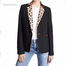 $enCountryForm.capitalKeyWord Australia - OMIKRON Office Lady leopard Print Single Breasted Women Suits Blazer Feminino Jacket Ladies Plus Size Pockets Business Blazer