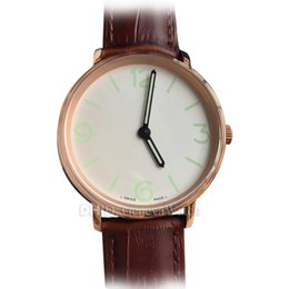 $enCountryForm.capitalKeyWord Australia - Luxury Watch 40mm 316L Stainless Steel Case Blue Dial Leather Strap Mens Designer Watches Mechanical Automatic Wristwatch montre de luxe