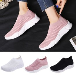 $enCountryForm.capitalKeyWord Australia - ONTO-MATO Brand Women's Ladies Mesh Breathable Ankle Slip On Flat Sport Shoes Sneakers Zapatillas de deporte Dropshipping