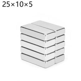 Neodymium Magnets 5mm Discs Australia - 5pcs 25mm x 10mm x 5mm Strong magnets 25x10x5mm rare earth neodymium magnet free shipping 25*10*5mm