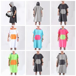 Towels baThrobes online shopping - Beach Changing Bathrobe Bath Towel Poncho Quick Dry Outdoor Sports Adult Water Uptake Swimming Colors colors MMA2012