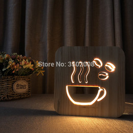 $enCountryForm.capitalKeyWord Australia - Coffee cup hollow design night light warm white USB desk lamp as creative children gift or home hotel club decoration