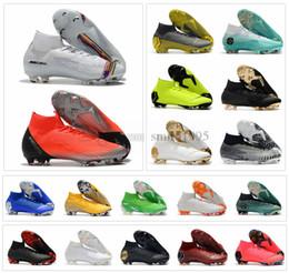 11 12 boys shoes online shopping - Mercurial Superfly VI Elite FG KJ XII CR7 Ronaldo Neymar Mens Women Boys High Soccer Shoes Football Boots Cleats Size US