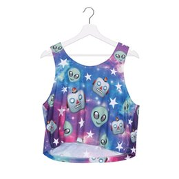 c204ac58cfe Women Vest Alien Robot Galaxy 3D Printed Girl Free Size Stretchy Tank Top  Lady Sleeveless Soft Tanks Casual Crop Top Tops Waistcoat (R39999)