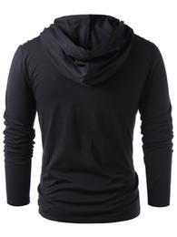Wholesale long sleeve leather sweatshirt men online – oversize Men Faux Leather Lace Up Hoodie New Style Fashion New Halloween Men Drawstring Hoodie Pullover Sweatshirt Full Sleeve
