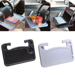 Großhandel Auto Schreibtisch Kaffee Halter Laptop Computer Tisch Lenkrad Universal Tragbare Essen Arbeit Trinken Sitzschale Autozubehör