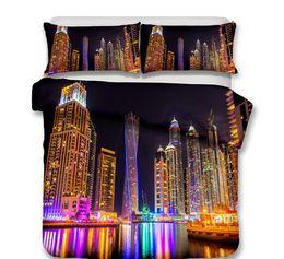 Bridge machine online shopping - 3D City Scenic Bedding Set Eiffel Tower Bridge City Night Printed Duvet Cover Luxury Bed Linen Duvet Quilt Cover