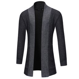 Chinese  Mens Sweater Cardigan 2019 Male Brand Casual Slim Sweaters Men Pure Color Simplicity Hedging Mens Sweater manufacturers