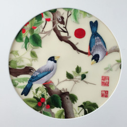 $enCountryForm.capitalKeyWord NZ - Ethnic handwork Suzhou Embroidery Silk thread Double-side Pattern Round 20cm use For Bag Clothing Hand Fan Painting Decor Ornaments etc