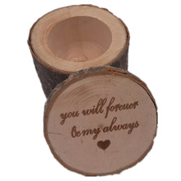 $enCountryForm.capitalKeyWord UK - Wooden Ring Box 6*6*5.2CM Originality Wedding Ring Case Classic Rustic Style Table Ornament Wedding Supplies 2 Sets ePacket