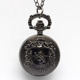 $enCountryForm.capitalKeyWord Australia - Vintage Black House Quartz Antique Pocket Watch Vintage Chain Clock Necklace Men Women Gift XH3030
