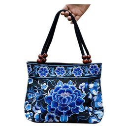 boho bags wholesale NZ - Ethnic Flowers Boho Hobo Embroidery Embroidered Bags Ladies Women's Shoulder Shopper Bag Handbag Women Brand Bags Luxury Logo
