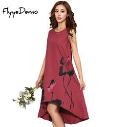 422d173082 M - 6XL Summer Dress 2018 New Vestido Casual Dresses Women Chinese Linen  Vintage Dress Ladies Sundress Plus Size Women Clothing Y190117