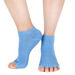 Discount pilates socks grips - Women Sports Yoga Socks Five Toe Anti-Slip Ankle Grip Socks Dots Pilates Fitness Gym Professional Sock Slippers Dance Pr