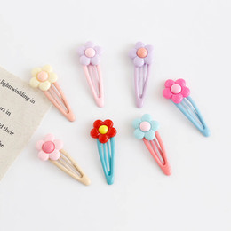 $enCountryForm.capitalKeyWord Australia - Ins Flower girls hair clips sweet kids Barrettes designer hair accessories for women BB Clips Fashion Childrens Hairclips A5511
