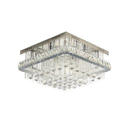 $enCountryForm.capitalKeyWord NZ - New arrival modern dimmable square crystal ceiling chandelier lighting luxury chrome flush mount chandeliers lights for bedroom foyer