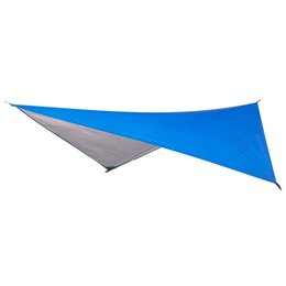 waterproof tent shelter Australia - Ultralight Tarp Outdoor Camping Survival Sun Shelter Shade Awning Silver Coating Pergola Waterproof Beach Tent-Blue
