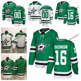 cheap dallas jerseys NZ - 2019 Jason Dickinson Dallas Stars Hockey Jerseys Mens Cheap Custom Name Home Green #16 Jason Dickinson Stitched Hockey Shirt S-XXXL