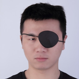 health patches NZ - 2Pcs Medical Use Concave Eye Patch Groove Washable Eyeshades Adjustable Strap Health Care Black Color