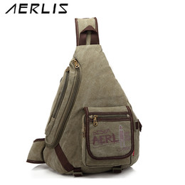 ccd3822c45 AERLIS Men Crossbody Sling Bags Casual Travel School Shoulder Messenger Bag  Male Triangle Canvas Satchel Handbag AE1026