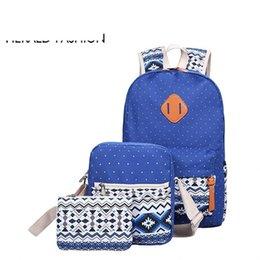 $enCountryForm.capitalKeyWord Australia - good quality Canvas Backpack 3 Pcs set Women School Backpacks Schoolbag For Teenagers Girls Large Student Book Bag Satchel