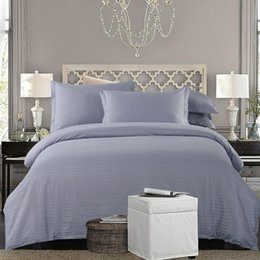 Full Size White Bedding Australia - Cotton White Grey Nordic Bedding Set Twin Full Queen King size Hotel Duvet cover Bed set Bed Fitted sheet set parrure de lit