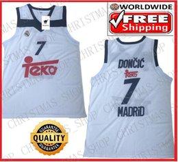 Barato atacado Luka Doncic Basketball Jersey Euroleague Madrid jersey alta qualidade S-XXL em Promoção