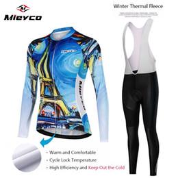 Women long sleeve fleece cycling jersey online shopping - 2019 Pro Women Long Sleeve Cycling Clothing Ropa Ciclismo Winter Thermal Fleece Cycling Jersey Bib Pants Set