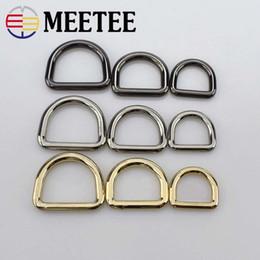 $enCountryForm.capitalKeyWord Australia - Meetee D Ring Metal Buckle For HandBag Purse Strap Belt Dog Collar Chain Connector Dee Clasp Bags Hardware Accessories