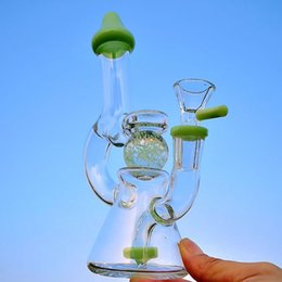 Wholesale 2019 Glow in the Dark Ball Bong Mini Dab Rig Heady Glass Wax Water Bongs Slitted Donut Perc Oil Rigs Showerhead Bongs XL
