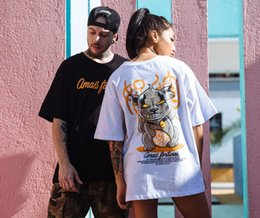 $enCountryForm.capitalKeyWord Australia - Free Shipping Hot Big printed loose short-sleeved T-shirt for men Japanese harajuku popular tops casual shirt for Europe and America