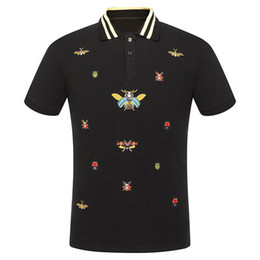 $enCountryForm.capitalKeyWord Australia - High New Novelty Men Embroidered Beetle Bees Fashion Polo Shirts Shirt Hip Hop Skateboard Cotton Polos Top Tee #f71