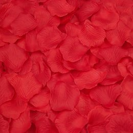 rose petals wedding confetti Canada - 2000 PCS Happy Gifts Silk Silk Rose Petals Artificial Flower Wedding Decoration Favor Bridal Shower Aisle Vase Decor Confetti